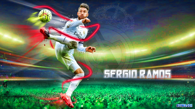 Sergio Ramos Wallpaper by szwejzi