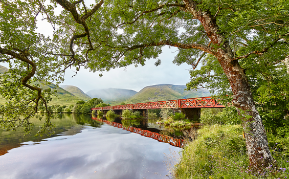 Railway Bridge near Kilchurn Castle by nicoam