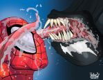 Spiderman and Venom by ZeroEnd