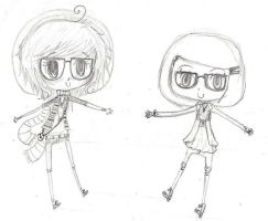 Chibi Hipsters by DreamingLights
