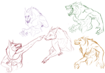 FULL MOON FREE SKETCHES 3/4/15 by Madiswain