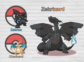 Poke Fusion - Zekrizard by PokeFusionMan