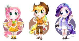 MLP set chibis 2 by Ayuyowsky