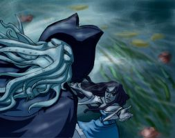 Davy Jones, Calypso: Falling by Crispy-Gypsy