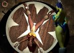Teela vs. Evil-Lyn 13 by Uroboros-Art