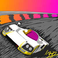 Mazda 787B (drawing monitor practise) (unaltered) by Axial97