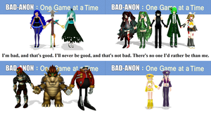 MMD Villains Bad-Anon by Mario-McFly