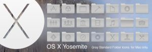 Yosemite Gray Standard Folder Icons by Gpopper