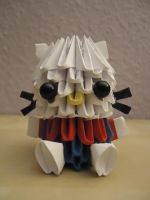 3D Origami - Hello Kitty 1 by Mixowelle