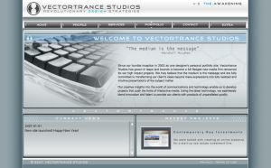Vectortrance.com v.3 interface by Vectortrance