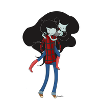 Marceline and Marshall Lee by Hahanoodle
