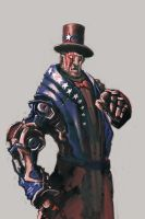 Robo Uncle Sam, Fourth of July 2014 by cobaltplasma