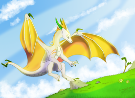 Just Flying Around (Sketch by Fourth-Star) by NutmegFluff