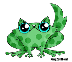 Funny cat adoptable frog by KingZoidLord