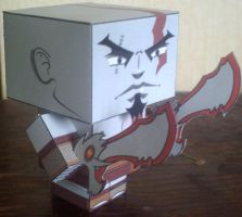 God of War cubee by paperart
