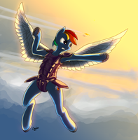 Rainbow Dash (Armoured) by DimFann