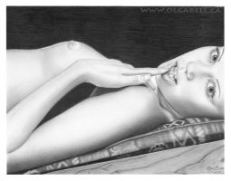 My ART DRAWING:Girl by OlgaBell