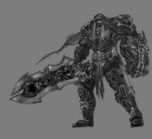 Darksiders BW by GarroteFrancell