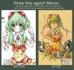 before after meme : gumi by sonnyaws