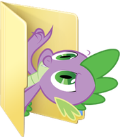 Custom Spike folder icon by Blues27Xx