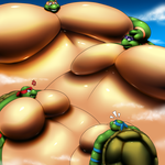 Gigantic sumo TMNT by RickyDemont
