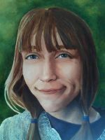 Self Portrait in Acrylic by Winterquilt