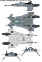 Thunder Fighter  USS ATLANTIS by bagera3005