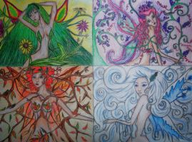The Four Seasons- Colored by xitsveronikiox