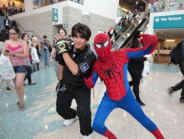 Kyo and Spiderman Cosplay by BlueWolfRanger95