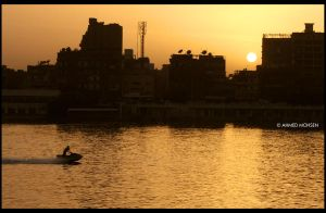 Nile at sunset by A-Mohsen