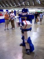Soundwave on the con floor by Raggletag