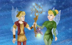 Tinker Bell and lost treasure by Pridipdiyoren