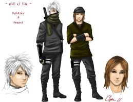 WoF: Kakashi + Genma by cynchick