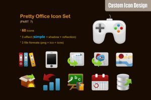 Pretty Office Icon Set part 7 by customicondesign
