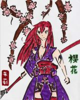 Erza Scarlet Cherry Blossoms - Tribal by FadingNoctis