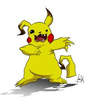 Wrongly evolved Pikachu by zones-productions