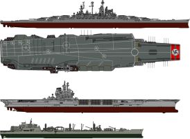 Kriegsmarine Aircraft Carrier and battleship by someone1fy