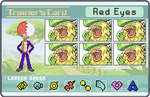 Trainer Card - Red Eyes by SilverInsanity