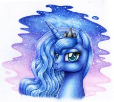 Princess Luna portrait by Evomanaphy