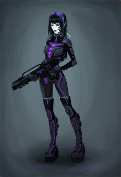 Psionic Soldier by cibo-black-cat