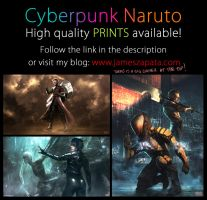Cyberpunk Naruto PRINTS! by jameszapata