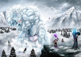 Father of the Frost Giants vs The Allfather by Ironwolf09