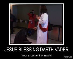 Jesus Blessing Darth Vader by thedesertkitsune
