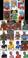 --Voltron Sketch Cards-- by SeanRM
