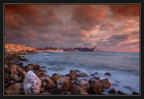 Jaffa Sunset. by israelfi