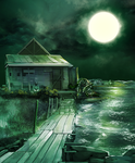 Lonely shack by Keleus