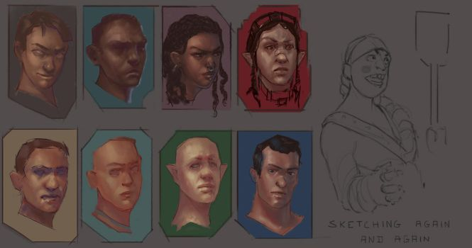 Quick sketches D1 16 by Grimdor