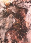 The Beast Within 23x32 inch by AstridBruning
