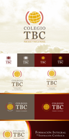 Colegio TBC Logotype Applications by Oigres-Undead