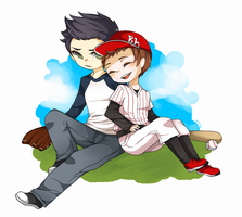 TW: Baseball AU by Alienese